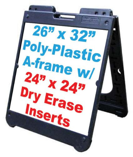 Poly A Frame 26x 32 Double Sided Sidewalk Sign Wdry Erase Panels