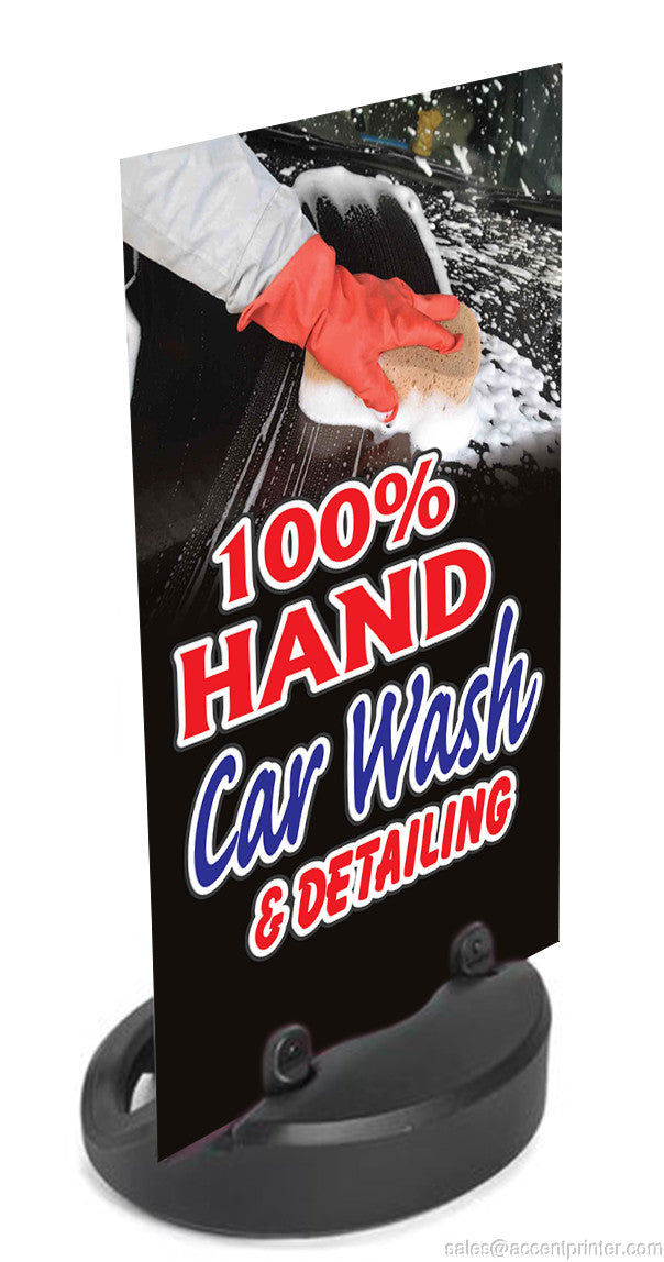 100 Hand Car Wash Detailing Sidewalk Sign W Waterbase 24 W X 48