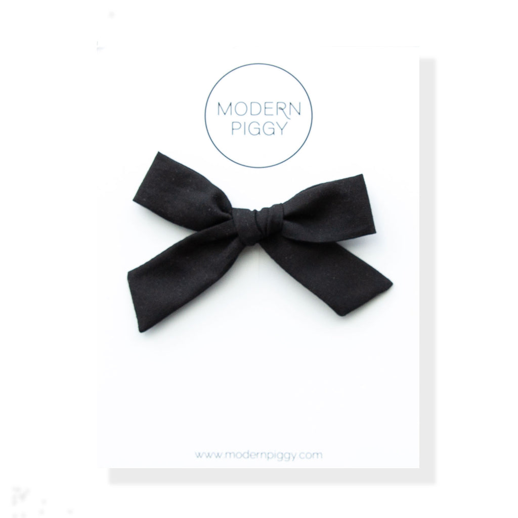 Black Textured | Hand-tied Bow