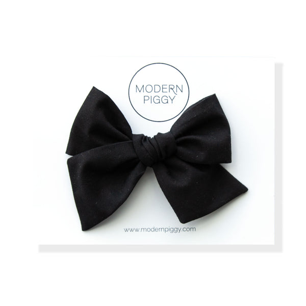 Jet Black | Oversized Hand-tied Bow