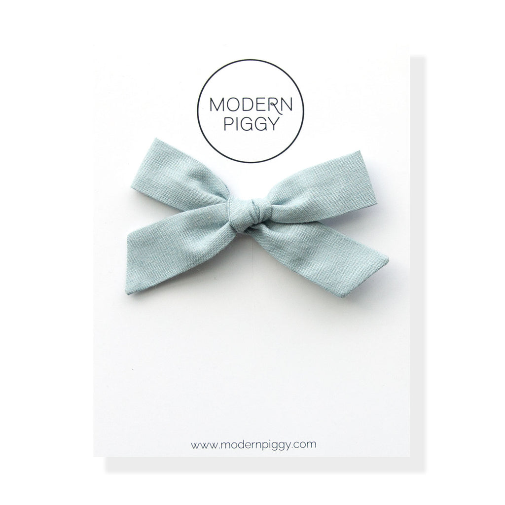 Faded Denim | Hand-tied Bow