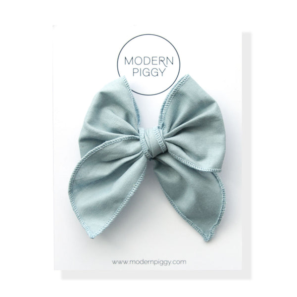 Faded Denim | Petite Party Bow