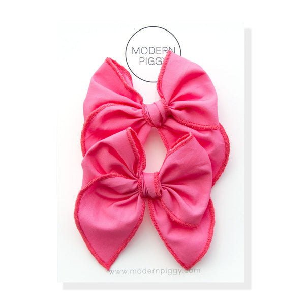 Flamingo | Pigtail Set - Petite Party Bow