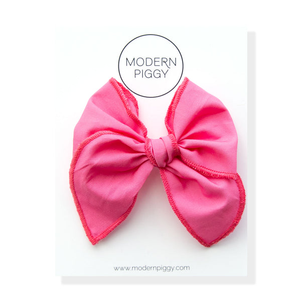 Flamingo | Petite Party Bow