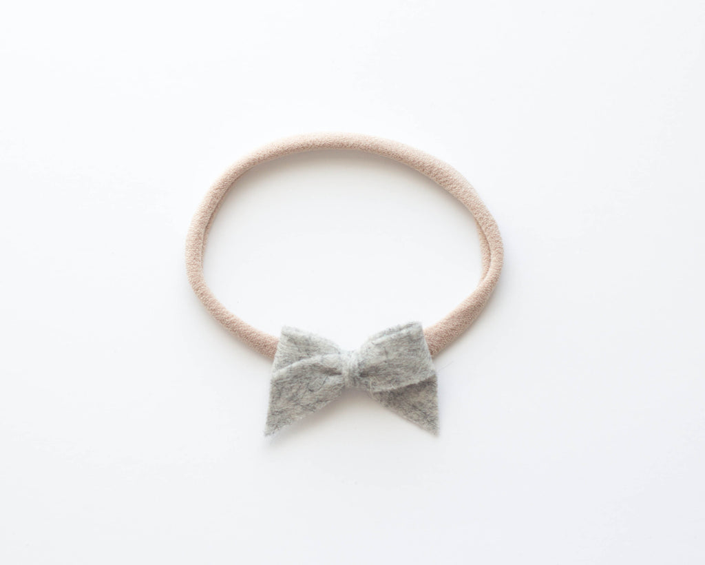 Heather Grey | Felt Baby Bow