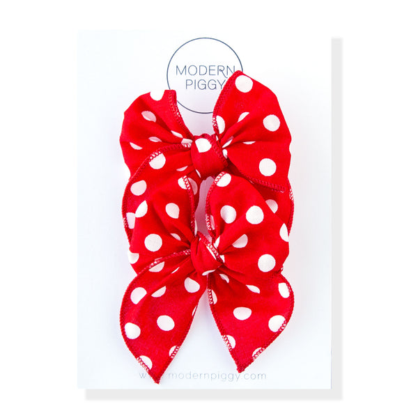 Minnie | Pigtail Set - Petite Party Bow