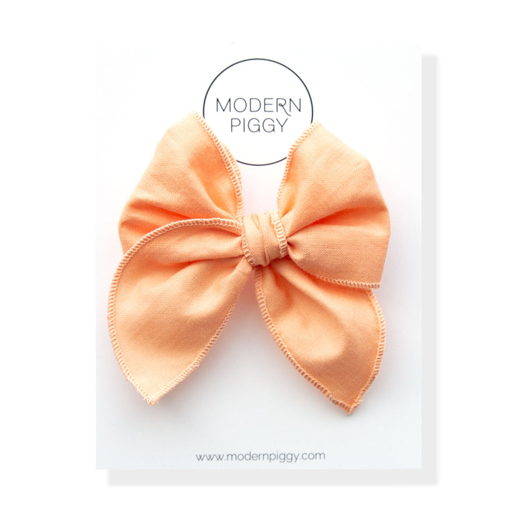 Peach Pearl | Petite Party Bow