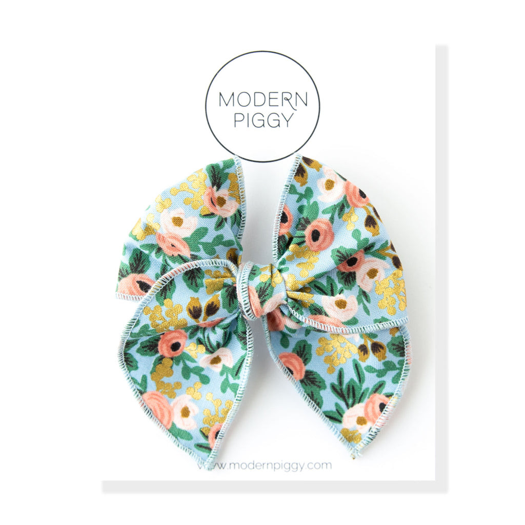 Rosa - Blue | Petite Party Bow
