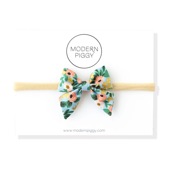 Rosa - Blue | Mini Piggy Bow
