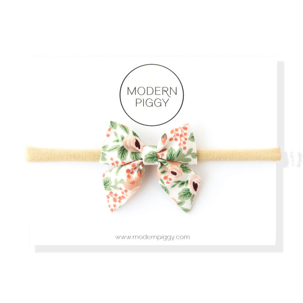 Rosa - Pink | Mini Piggy Bow