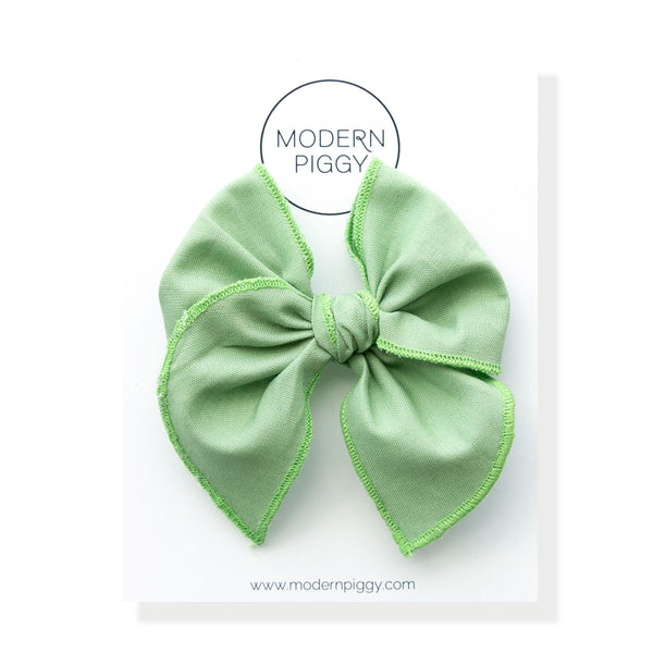 Seafoam Green | Petite Party Bow