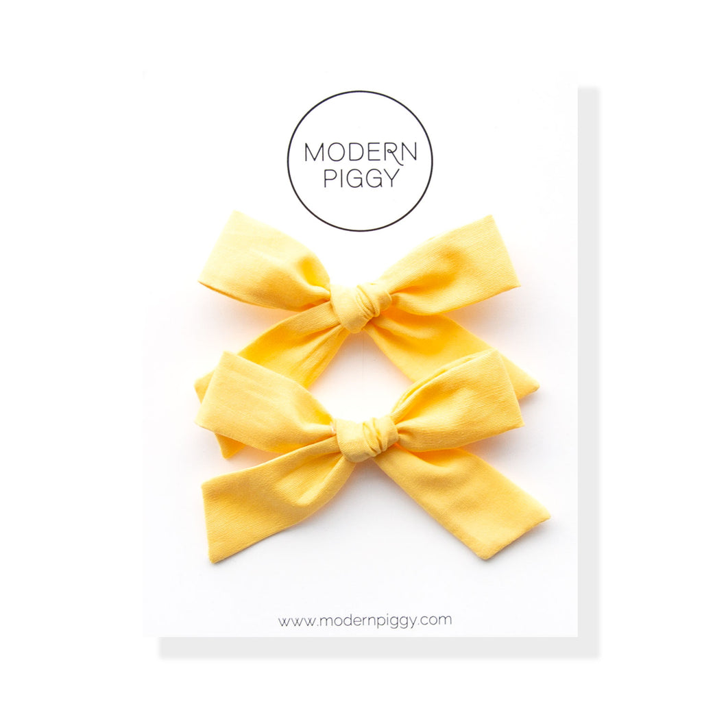 Sunshine | Pigtail Set - Hand-tied Bow