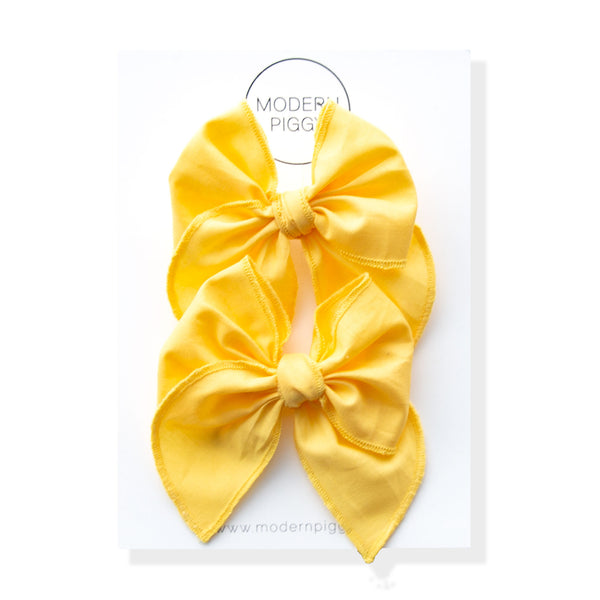 Sunshine | Pigtail Set - Petite Party Bow