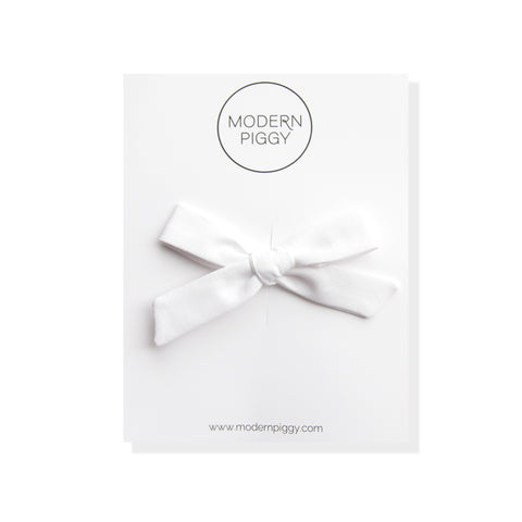 Woven White | Hand-tied Bow