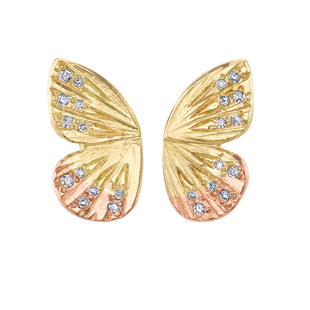 Diamond Asterope Wing Earrings