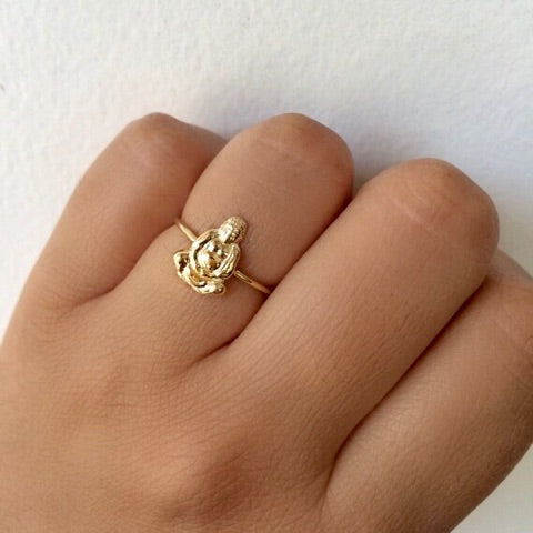 Gold Buddha Ring