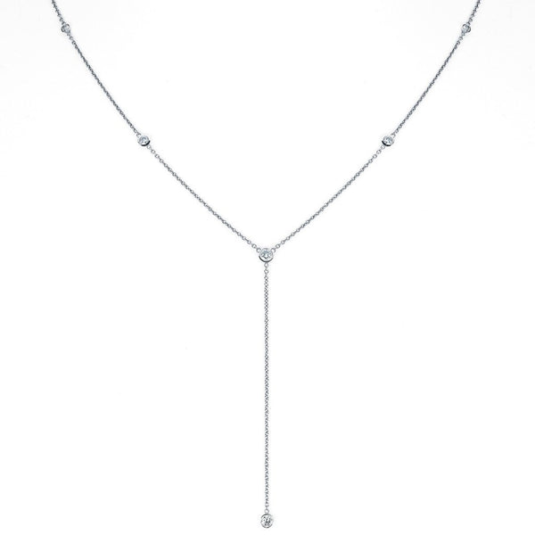 Diamond Star Droplet Necklace
