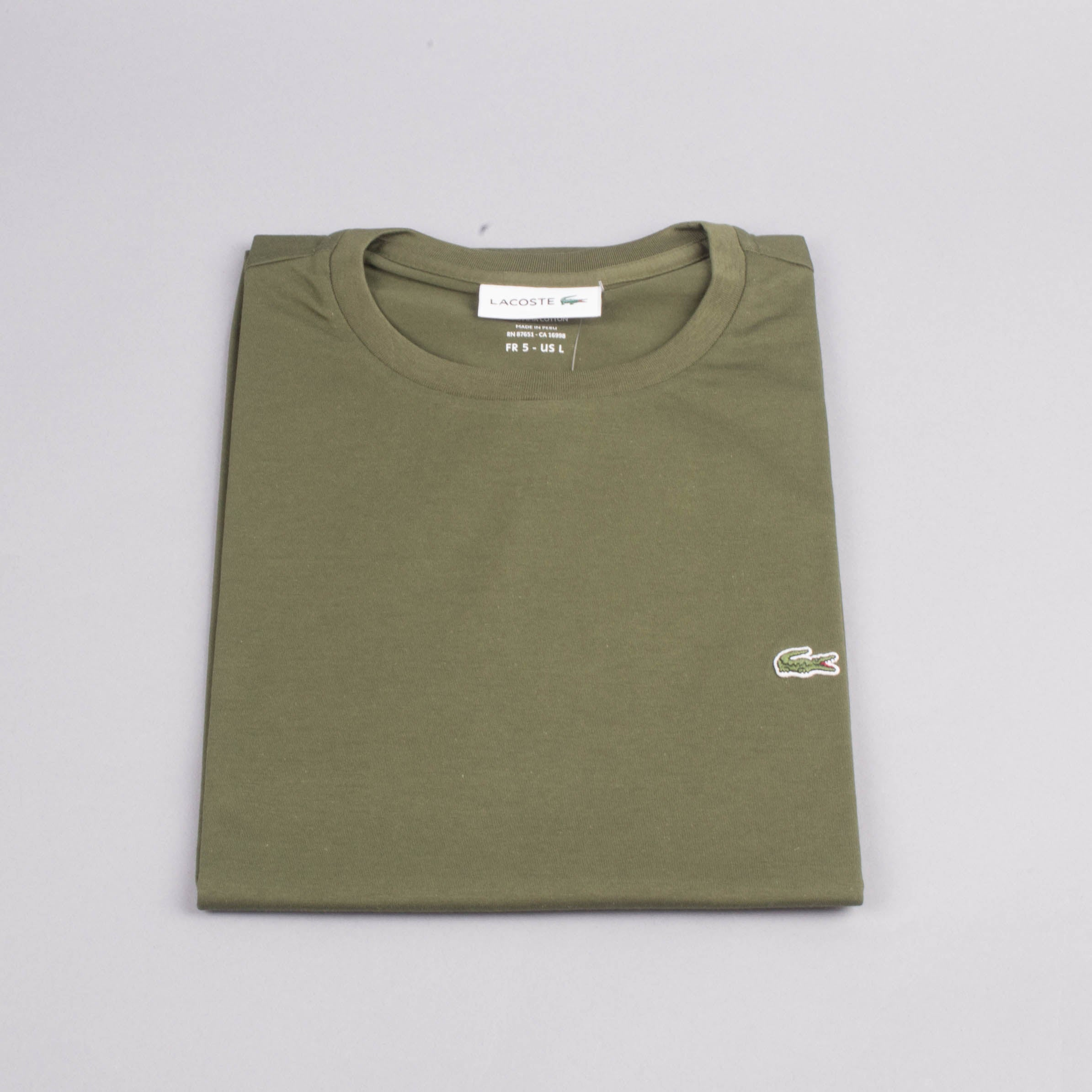 a24164fb3ed2 Lacoste Crew Neck Tshirt-Men's T-Shirts-LACOSTE | The Brooklyn Way