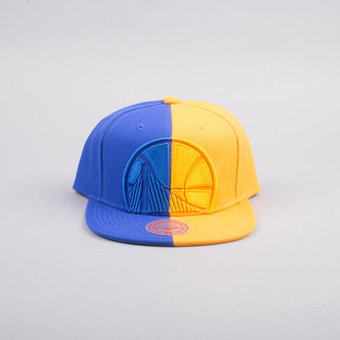 Mitchell & Ness  Golden State Warriors NBA Split Logo Snapback Cap-Accessories-Mitchell & Ness | The Brooklyn Way
