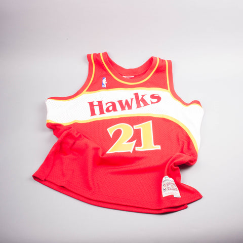 Mitchell & Ness Dominique Wilkins Hawks Jersey-Men's T-Shirts-Mitchell & Ness | The Brooklyn Way