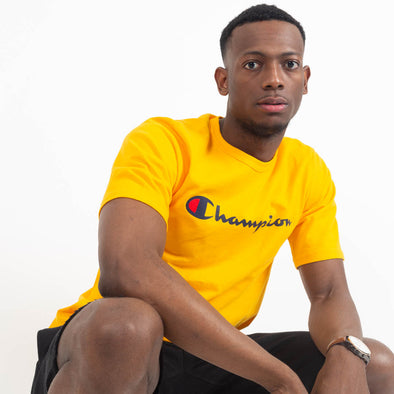 Champion Tee Yellow-Men's T-Shirts-Champion | The Brooklyn Way