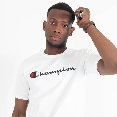 Champion Tee White-Men's T-Shirts-Champion | The Brooklyn Way