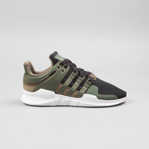 Adidas EQT Support ADV Mens Running Shoe (Olive Green/White)-Men's Footwear-Adidas | The Brooklyn Way