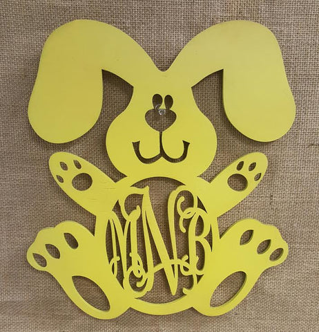WA 1722 Bunny Wooden Monogram Wall Art – Designs by SouthernCharm