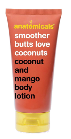 Smoother butts love coconuts. Coconut and mango body lotion.