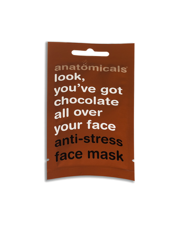 Look, you´ve got chocolate all over your face! Anti-stress face mask