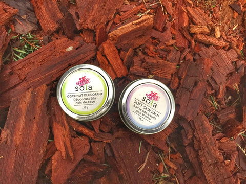Sola Coconut Deodorant and Soft Skin Balm