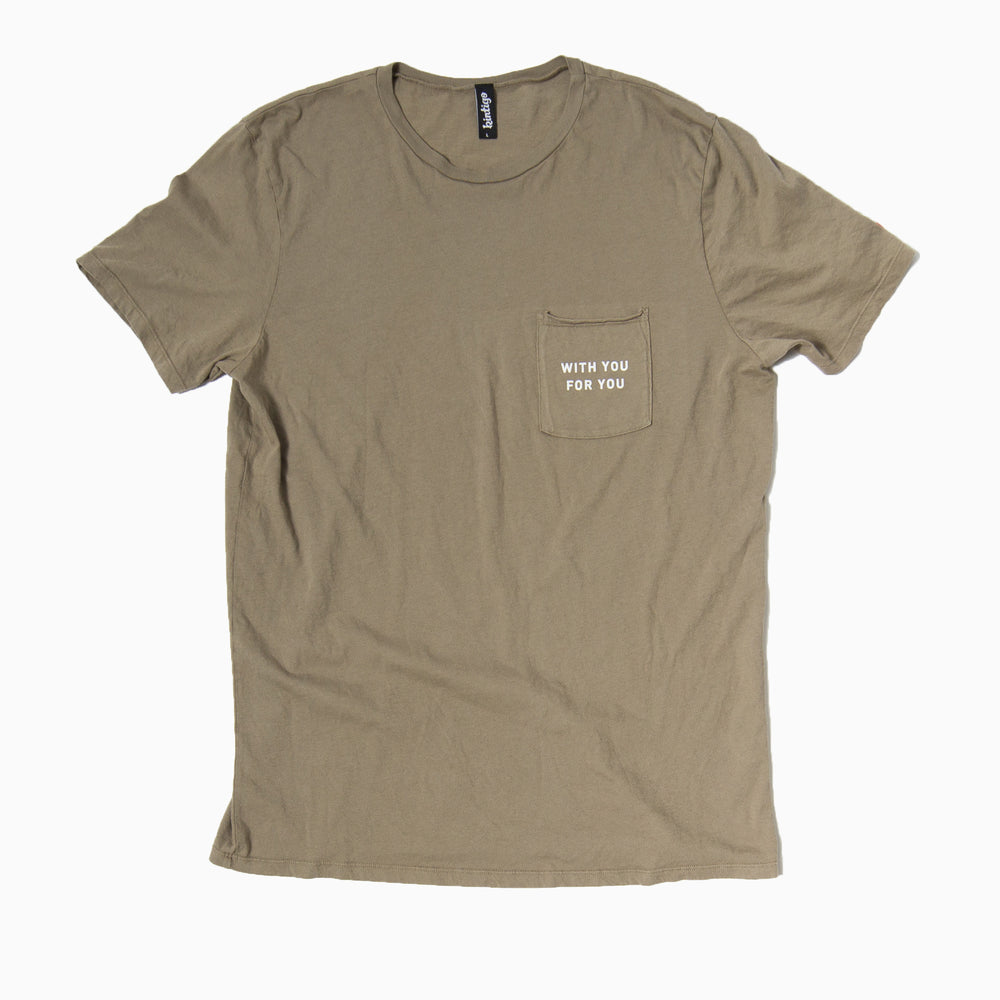 Chance Tee - WITH YOU FOR YOU (Olive)