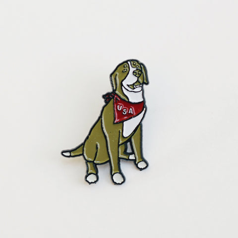 Enamel Pin - USA Pup