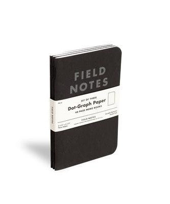 Field Notes - Black Dot Graph (3 Pack)