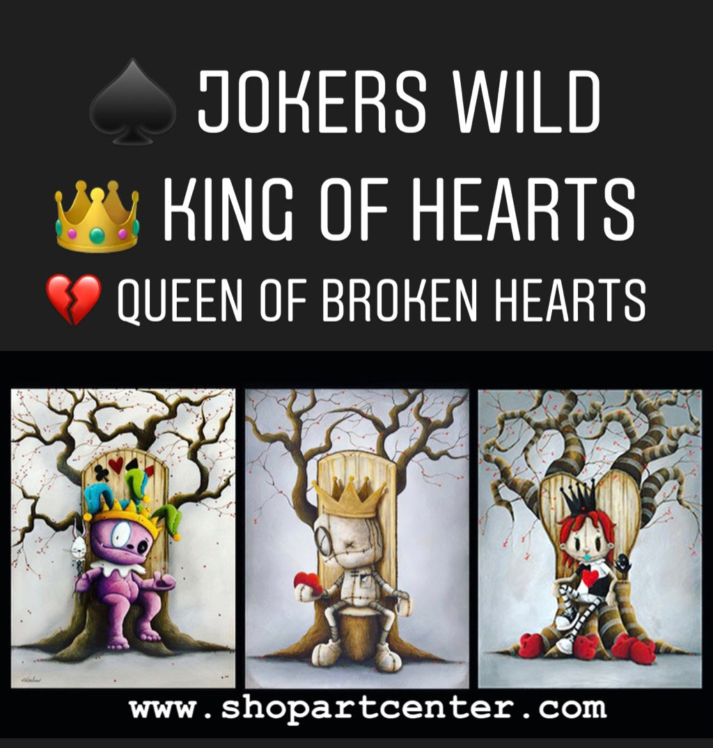 Jokers Wild • King of Hearts • Queen of Broken Hearts | Art