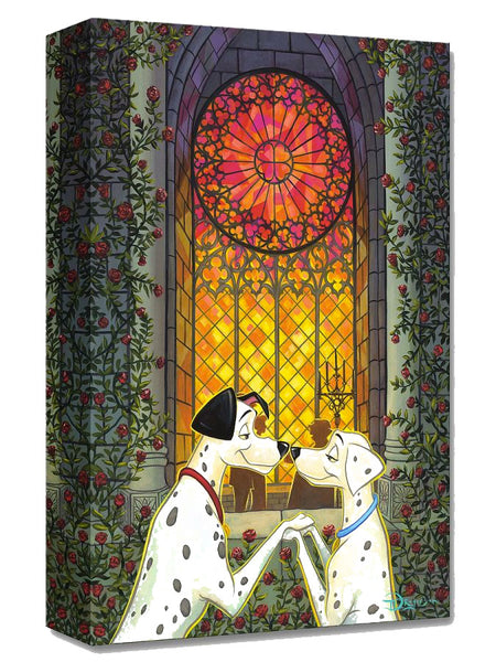 "Tim Rogerson Disney ""101 Roses"" Limited Edition Canvas Giclee"