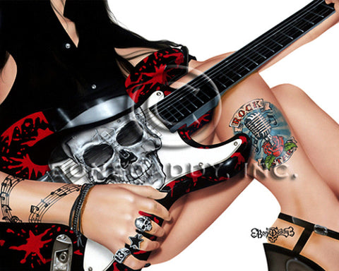 "BoneDaddy - ""Rock Star  ""  Limited S/N Canvas Giclee 16x20 Edition of 150 -Art Center Gallery www.shopartcenter.com  1-866-254-6523"