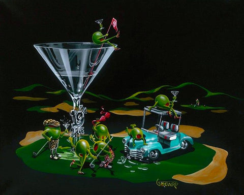 "Michael Godard ""19th Hole"" Limited Edition Canvas Giclee"