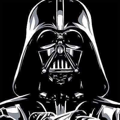 "Allison Lefcort Star Wars ""Darth Vader"" Canvas Giclee"