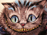 "Manuela Lai ""Cheshire Cat"" By Manuela Lai  Open edition Giclee Canvas 13"" x 17"" Paintings"