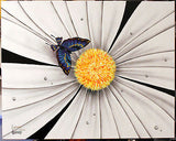 "Michael Godard ""Black and White Flower - Butterfly"" Limited Edition Canvas Giclee"