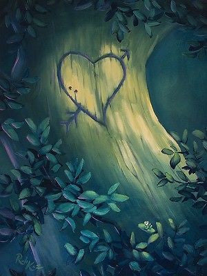 "Rob Kaz-""Heart of Oak"" Giclee Canvas 14"" by 14"" Open edition - Art Center Gallery"
