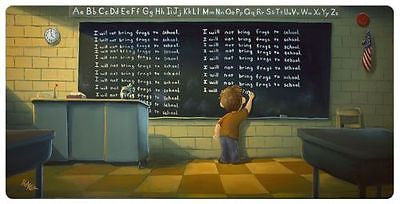"Rob Kaz ROB KAZ- ""DETENTION"" GICLEE CANVAS 8"" BY 16"" OPEN EDITION Limited Editions"