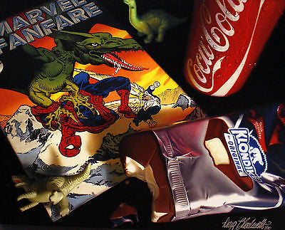 "Doug Bloodworth Doug Bloodworth - ""Marvel Fanfare"" Giclee canvas  limited 18 by 24 Edition 180 Prints"