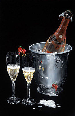 "Michael Godard - ""Champagne Kiss"" Limited Signed Canvas 24"" by 40"" - Art Center Gallery"