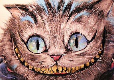"""Cheshire Cat"" By Manuela Lai  Open edition Giclee Canvas 13"" x 17"" -Art Center Gallery www.shopartcenter.com  1-866-254-6523"