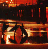HUNTINGTON BEACH HIGH QUALITY OLD PIER COLOR  PHOTO PRINT SUNSET (BOB HUFFMAN) - Art Center Gallery