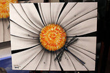 "Michael Godard -B&W ""Dragonfly""Flowers Limited  Giclee canvas  17.5""by""22"" - Art Center Gallery"