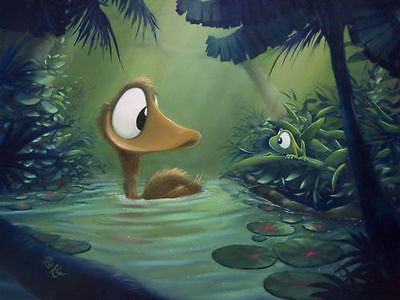 "ROB KAZ- ""SITTING DUCK"" GICLEE CANVAS 14"" BY 14"" OPEN EDITION - Art Center Gallery"