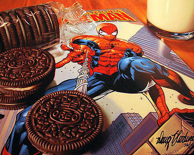 "Doug Bloodworth - ""Oreos Spidey"" Giclee canvas  limited  18"" by  24""  Edition 180 - Art Center Gallery"